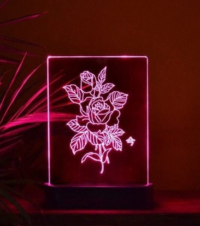 art, floral and neon art