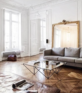 living room, house and Blanc