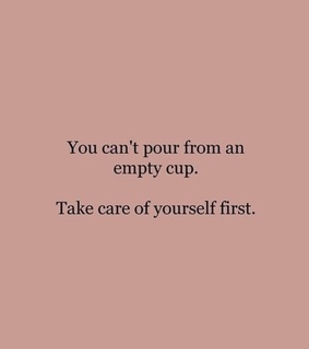 empty cup, of and take care