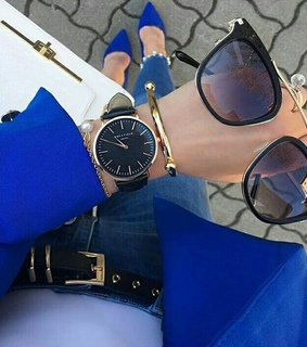 april, sunglasses and watch