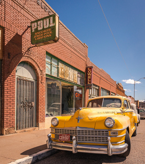 vintage car, arizona and street