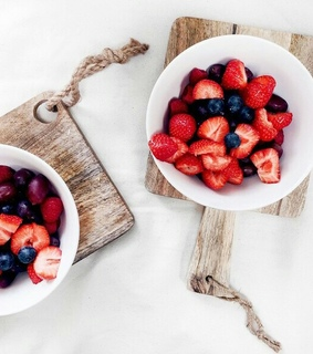 eat, food and strawberry
