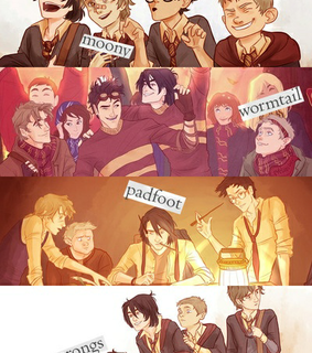peter petegry, james potter and marauders