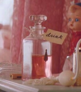perfume, interior and doll