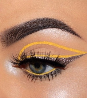 yellow, beauty and eye makeup