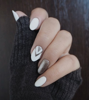white, arrow and nails