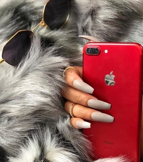 inspo inspiration, red iphone and nails goals