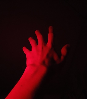 hand, red and inspiration