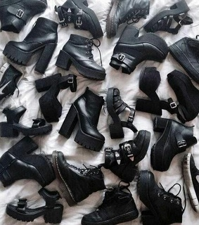 shoes, soldier and black