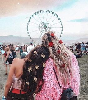 bff goals, hair goals and coachella