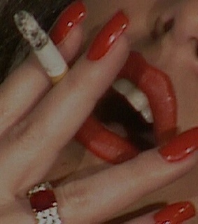 cigarette, red and nails