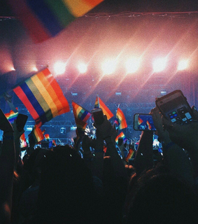 love, gay flag and community