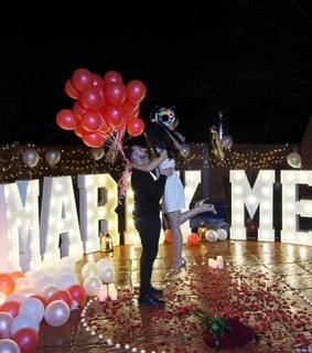 romantic, surprise and proposal