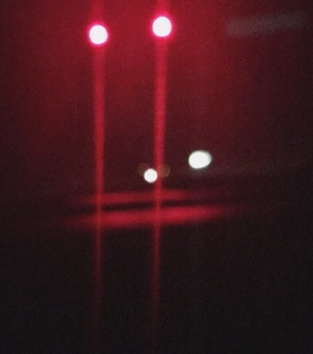 night, red and bokeh