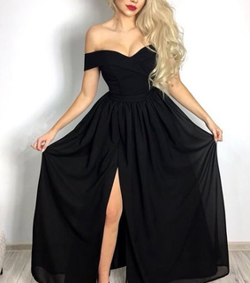 black dress, princess dress and fashion