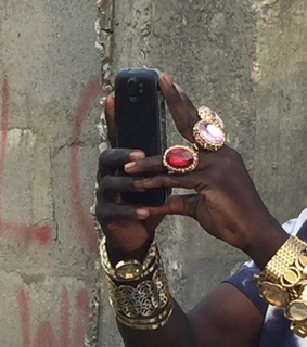 ghetto, hand and phone