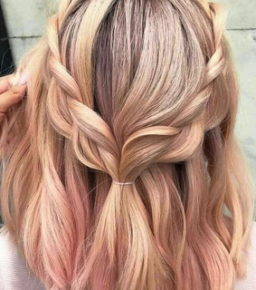 hair, girls and pink