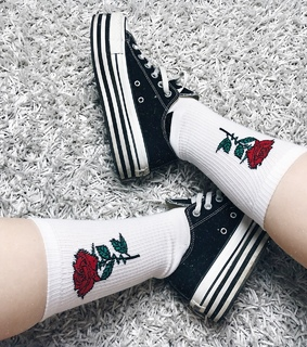 grunge, socks and fashion