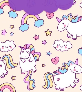 unicorns, colors and backgrounds