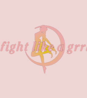 fight like a girl, moon and header