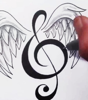 music, draw and help