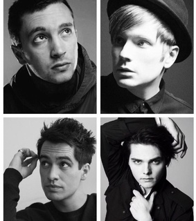 brendon urie, gerard way and tyler joseph