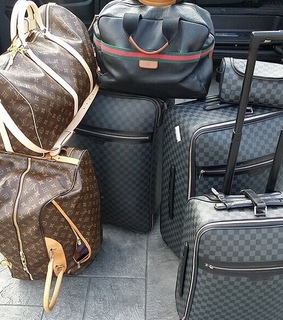 baggage, luggage and Louis Vuitton