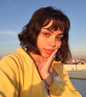 yellow, girl and golden hour