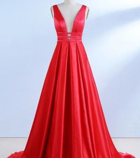 prom dress and red dress