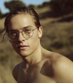 sprouse, long hair and glasses