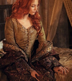 dress, thoughtful and red hair