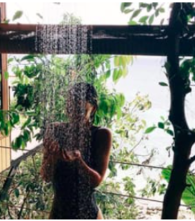 shower, tropical and travel