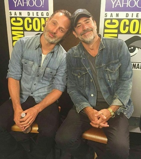 rick grimes, andrew lincoln and negan
