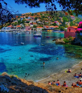 nature, beautiful houses and Greece