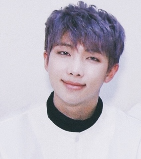 kim namjoon, purple and hair