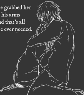 sad, her and grabbed
