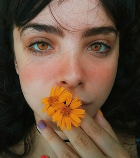 eyes, aesthetic and orange aesthetic