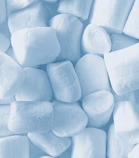 yummy, blue and marshmallow