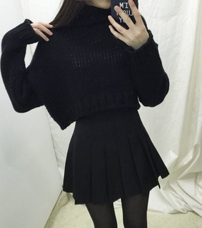 sweater, korean fashion and skirt