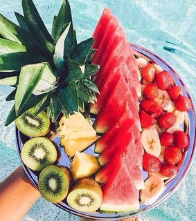 pineapple, healthy and watermelon