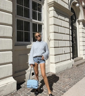 blue, tanned and fashion