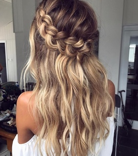 braids, hairstyle and blonde