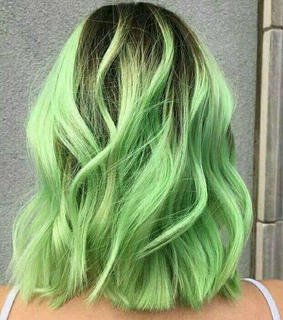 green, cabelo and verde