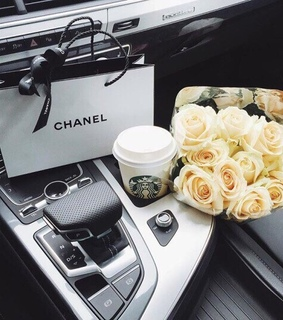 coffee, flowers and car