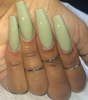 lime, pale and nails