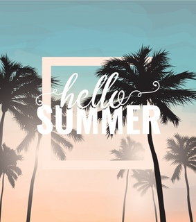 typography, lettering and summer