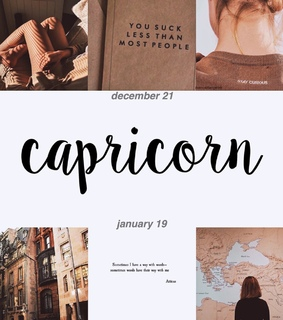 capricorn, edit and december
