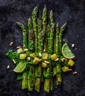 bake, asparagus and vegetarian