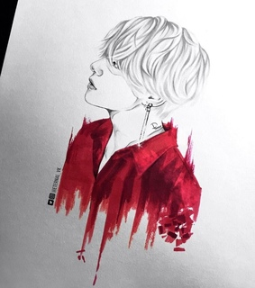 kpop, fan art and drawing