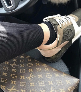 sneakers, Louis Vuitton and car